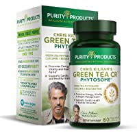 Green Tea CR Brand New w/Phytosome Technology for Boosted Bioavailibilty (High Absorption) by Purity Products - Healthy Fat Burning Support - As Featured On TV - 30 Day Supply - 60 Vegetarian Capsul