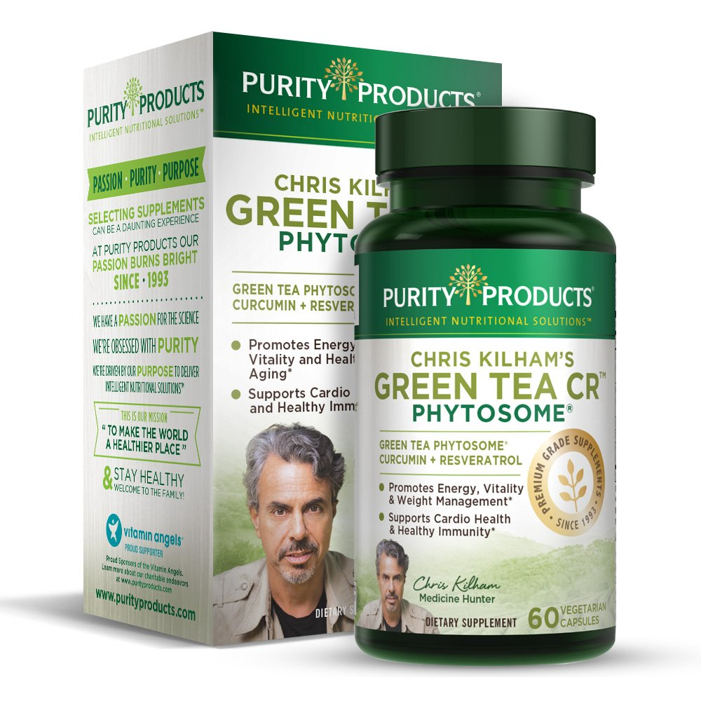 Green Tea CR Brand New w/Phytosome Technology for Boosted Bioavailibilty (High Absorption) by Purity Products - Healthy Fat Burning Support - As Featured On TV - 30 Day Supply, 60 Vegetarian Capsules by Purity Products