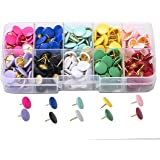 Shiguang 300 Pieces Colourful Thumb Tacks with Storage Box, Premium 2/5 inch Multi-Color Push Pins, 10 Colored Map Tacks for
