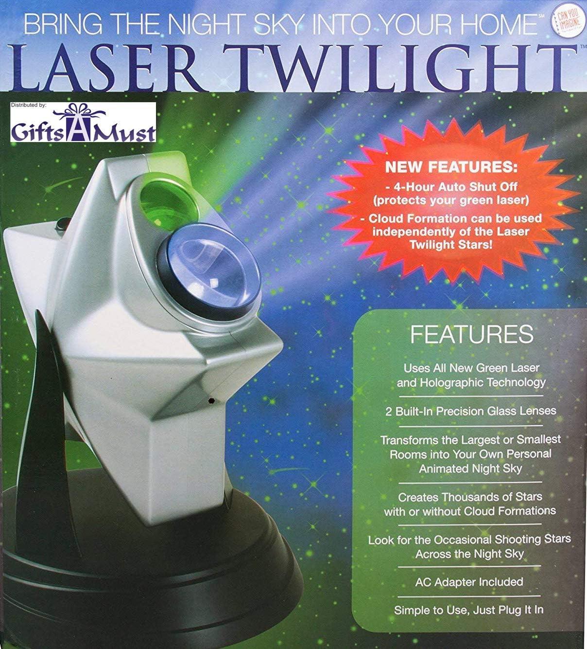 [upgraded 2019 Version] Laser Stars Twilight Projector, Romantic Relaxing Night Light Show, hologram Cosmos Planetarium Sky Constellation Galaxy ...