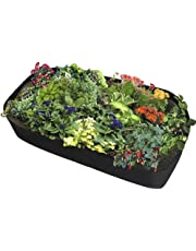 Fabric Raised Planting Bed, Garden Grow Bags Herb Flower Vegetable Plants Bed Rectangle Planter
