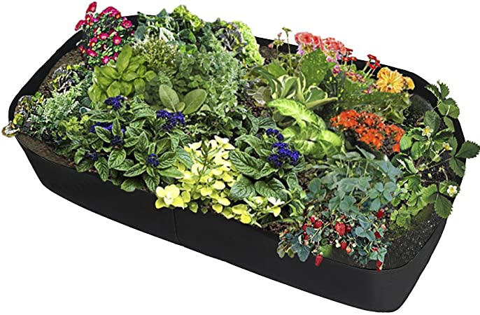 Amazon Com Assr Fabric Raised Garden Bed Rectangle Breathable