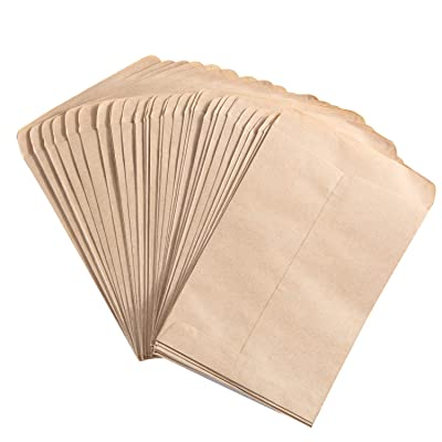 Senkary 100 Pieces Seed Packets Blank Seed Envelopes Empty Seed Paper Bags Bulk for Flowers, Wildflower, Party Favors, Wedding, Vegetables, Sunflower (4.7 by 3.5 Inches) : Garden & Outdoor