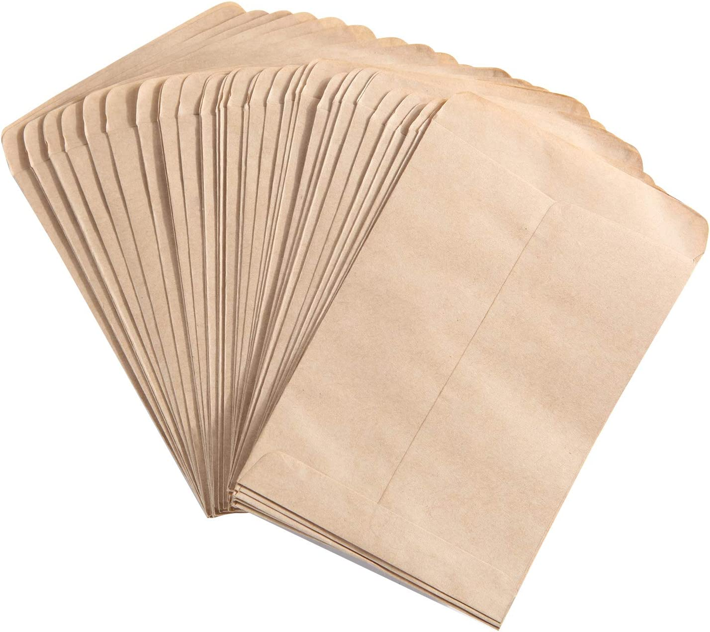 Senkary 100 Pieces Seed Packets Envelopes Empty Seed Bags Kraft Coin Envelopes for Party Favors, Wedding, Flowers (4.7 by 3.5 Inches)