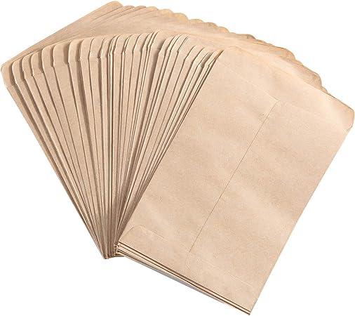 100PCS 10*6cm Seed Envelopes Kraft Paper Packets Envelopes Home Garden Office