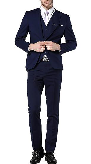 Mogu Hombres de Slim Fit 3 Piezas Vestido Trajes Traje de Fiesta Prom Vestido