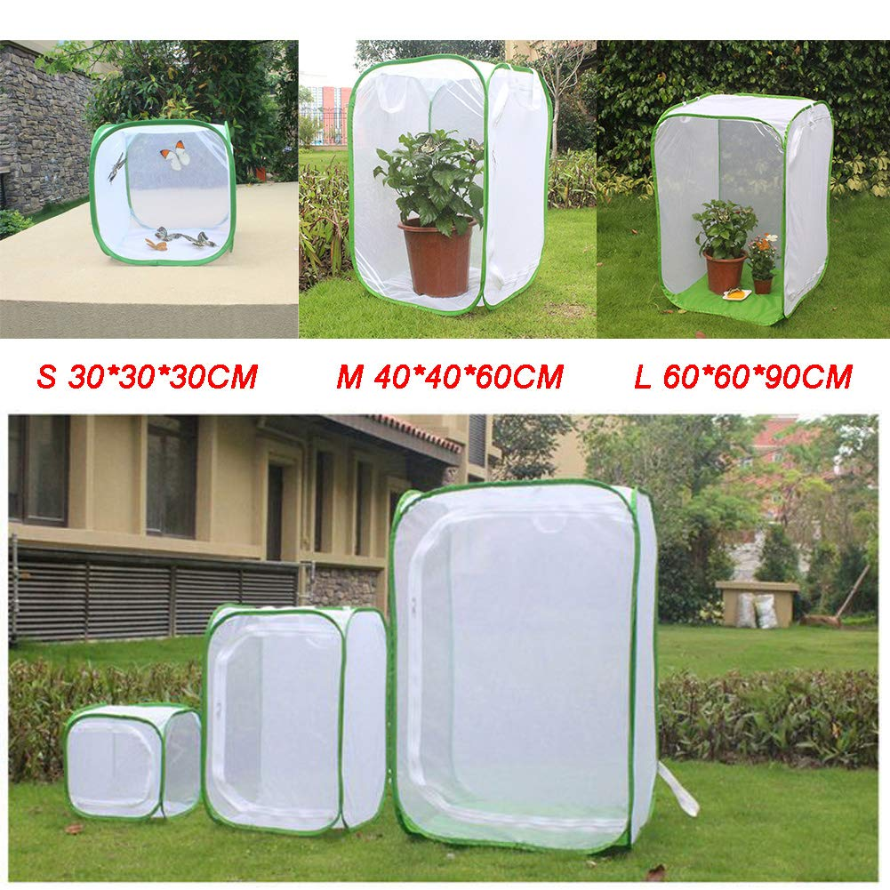 Anzuchtraum Gew/ächshaus SparY Insektenk/äfig Wasserdicht zusammenklappbar Insekten- und Schmetterlings-K/äfig Wachstumszelt Transparent