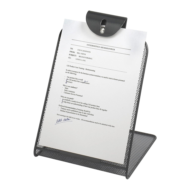 Safco - Leggio da scrivania traforato Onyx - Nero 2158BL