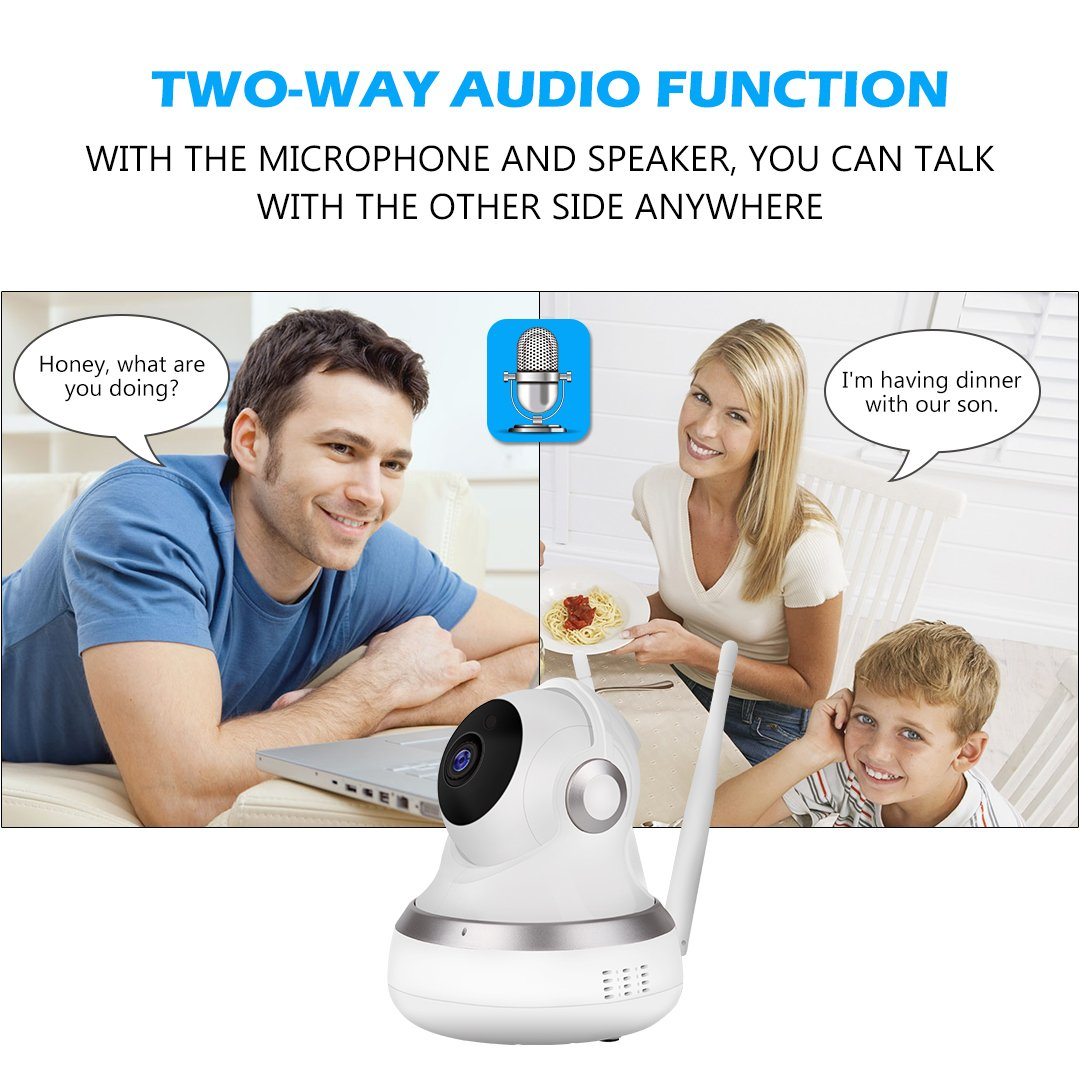 WiFi IP Camera GC-13H Wireless 720P HD IP Camera with Two-Way Audio, 10Meter Night Vision & Pan/Tilt for Baby/Elder/Home Support Cloud Server/SD Card for iOS/Android/Mac OS/Windows Home Security Surv by Golden Security (Image #6)