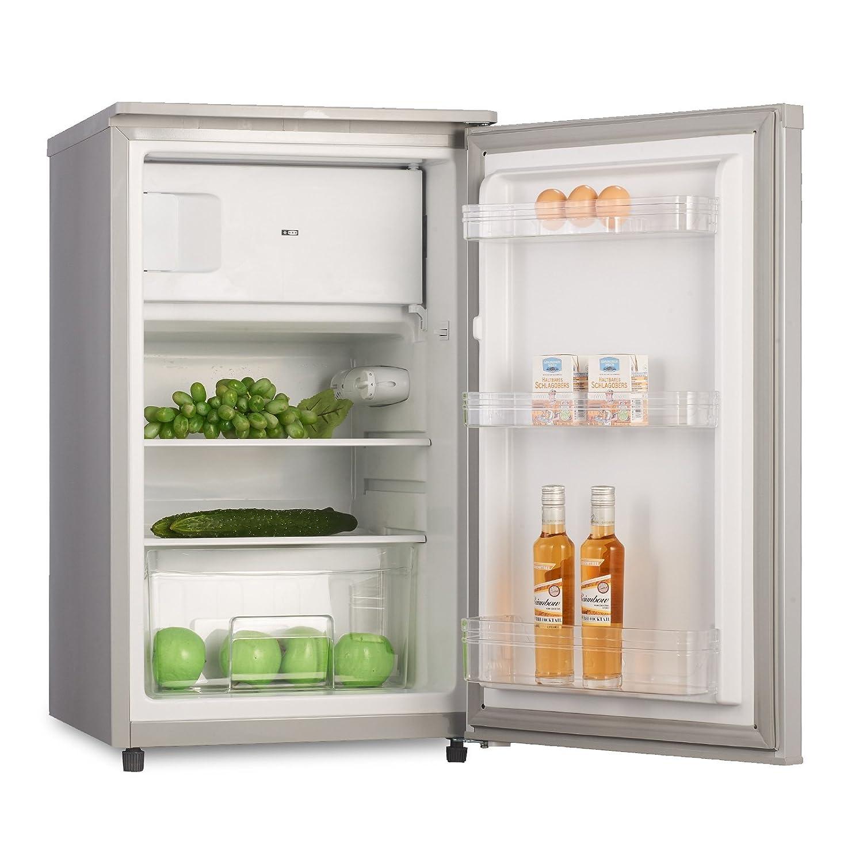Kühlschrank mit Gefrierfach A 90 Liter Silber 4 Sterne