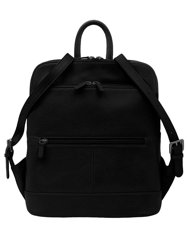 ili Leather 6505 Backpack Handbag (Black)