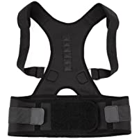 Neoprene Magnetic Posture Corrector Bad Back Support Lumbar Belt Shoulder Brace Size:M