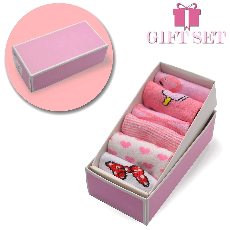 6pairs 6-12m Gift Set Baby Toddler Infant /& Kids Anti-Slip Cute Pink Flamingo Pattern Cotton Ankle Socks 2-4t. 1-2t