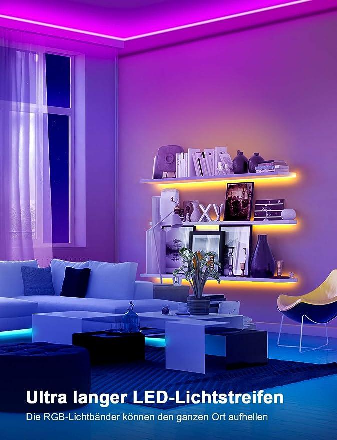 led strip 6m Mexllex 6m RGB LED Streifen Lichtband mit