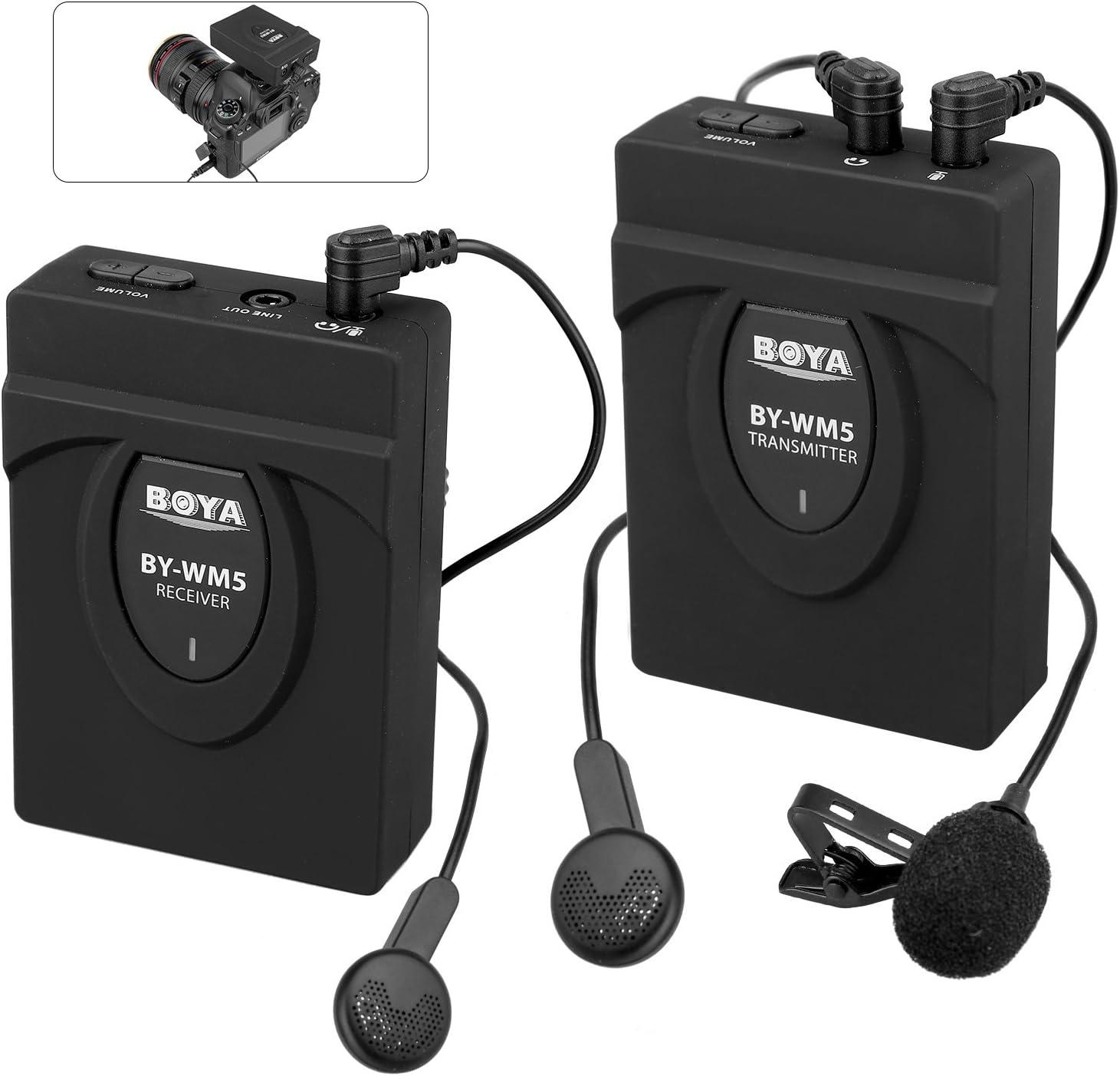 Micr/ófono Boya BY-WM5 Lavalier Wireless UHF sin cable