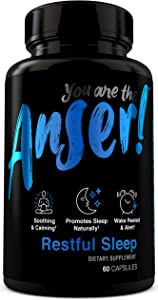 Anser Restful Sleep Aid with Melatonin, Valerian Root & Chamomile - Soothing & Calming Supplement for Relaxation - Promotes Sleep Naturally - Wake Rested & Alert - 30 Servings by Tia Mowry