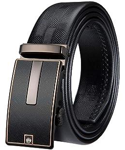Designer Belts for Men Cowhide Leather Ratchet Sliding Buckle Alloy,Gifts for Men