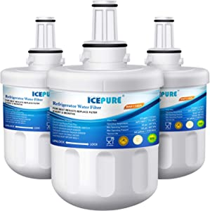 ICEPURE DA29-00003G Replacement for Refrigerator Water Filter, Compatible Samsung DA29-00003G, DA29-00003B, RSG257AARS, RFG237AARS, DA29-00003F, HAFCU1, RFG297AARS, RS22HDHPNSR, WSS-1, 3 Pack