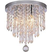 Crystal Ceiling Light LED 3 Brightness Crystal Chandelier Chandelier Ceiling Light Suitable for Staircase Corridor…