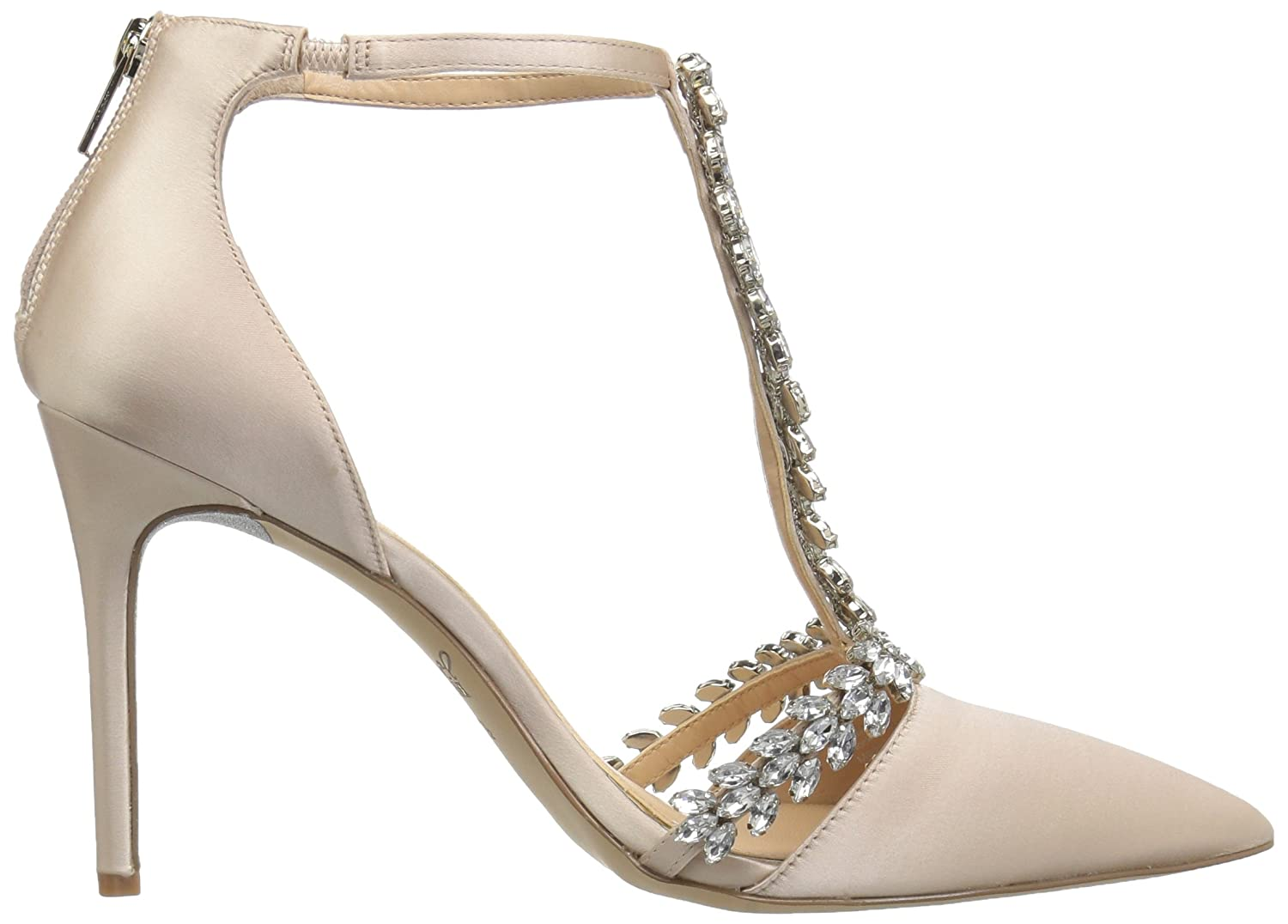 Badgley Mischka Jewel Women's Meena Pump B0781YXFCP 11 B(M) US|Champagne Satin
