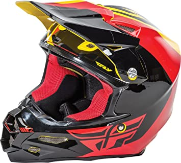 Fly Racing F2 Carbon Pure Helmet Yellow/Black/Red L 73-4124L