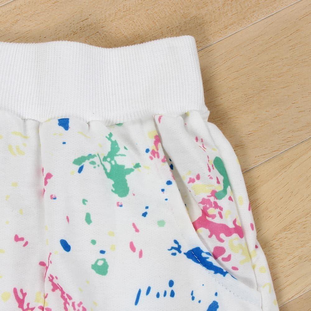 feiXIANG Ropa de bebé Niños Niñas Bebés Sudadera Imprimir Tops Mujer Camiseta de Manga Larga Traje de bebé Camisa de Moda + Pantalones Black Five Cyber Monday: Amazon.es: Electrónica