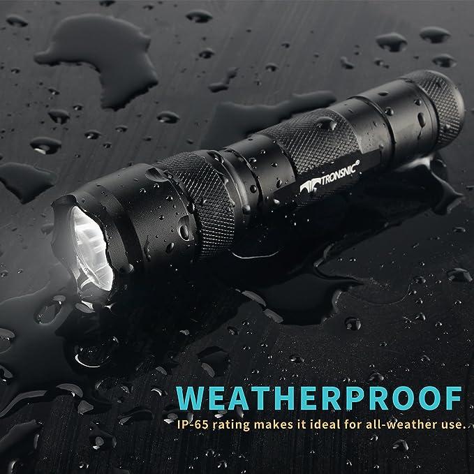 Linterna LED, Tronsnic Linterna LED Recargable USB Tactica Alta Potencia Linterna de Mano Linternas Táctica Militar Linternas Antorcha 900 LM Flashlight LED ...