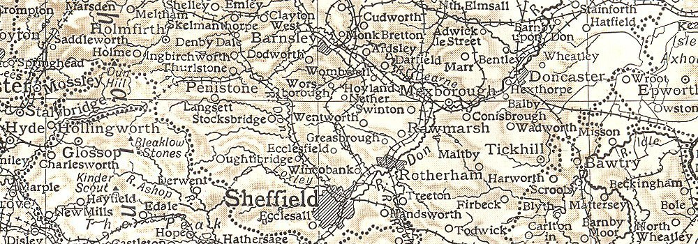 Scrooby England Map.Northern England Yorkshire Lancashire Cheshire Derbyshire Notts