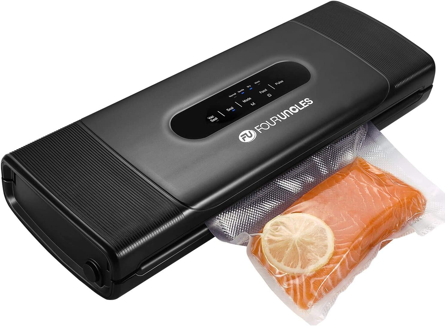 Vacuum Sealer Machine, Food Saver Vacuum Sealer Machine for Food Preservation Dry & Moist Food Modes Food Saver with Starter Kit Built-in Cutter&Marker