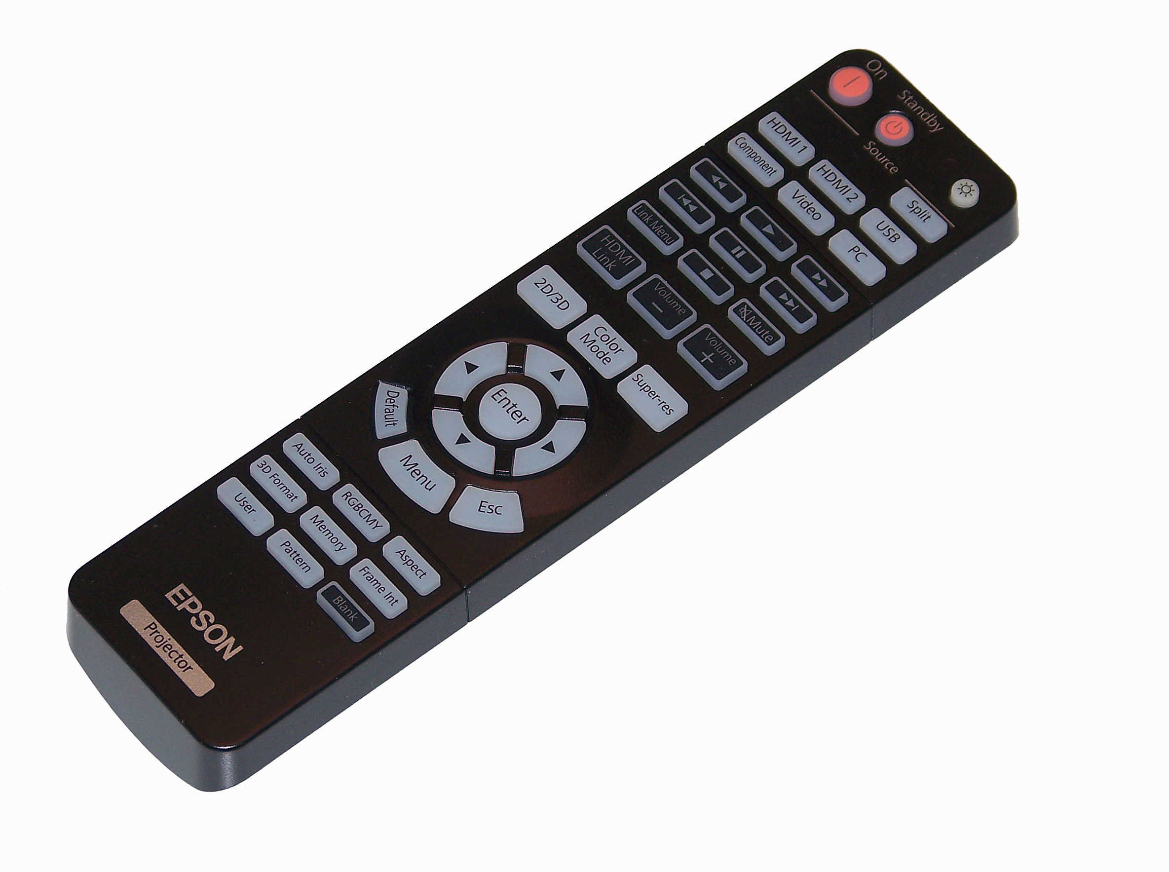 OEM Epson Projector Remote Control Shipped With Epson PowerLite Home Cinema 3020+, PowerLite Pro Cinema 6020UB by Epson