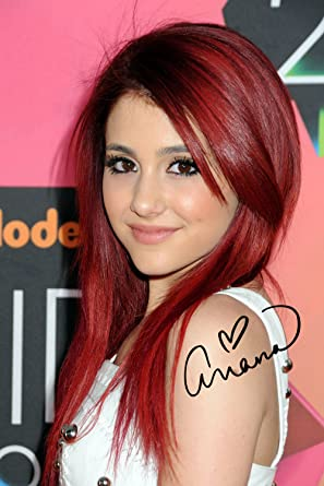 ariana grande as cat valentine victorious 8x10 reprint signed photo