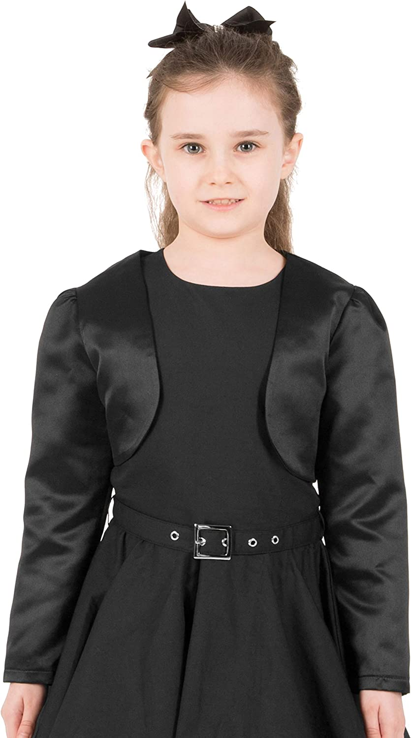 BlackButterfly Formal Satin Long Sleeve Bolero Shrug