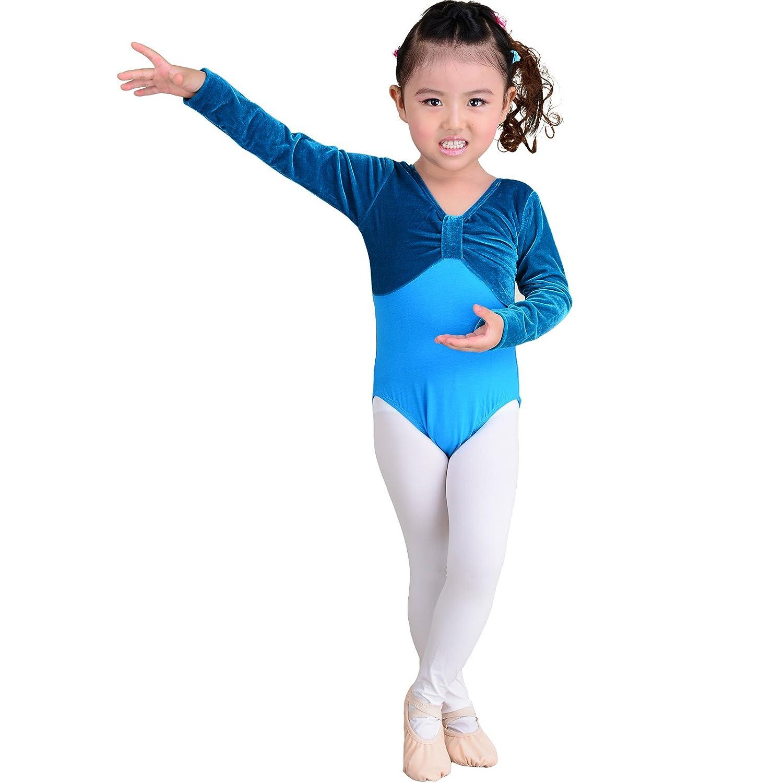 Skyrocket Maillot de Danza Gimnasia Leotardo Clásico Estirable de ...