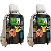 lebogner Backseat Organizer + iPad and Tablet Holder, 2 Pack X-Large Multifunctional 5 Pocket Storage Car Seat Back…
