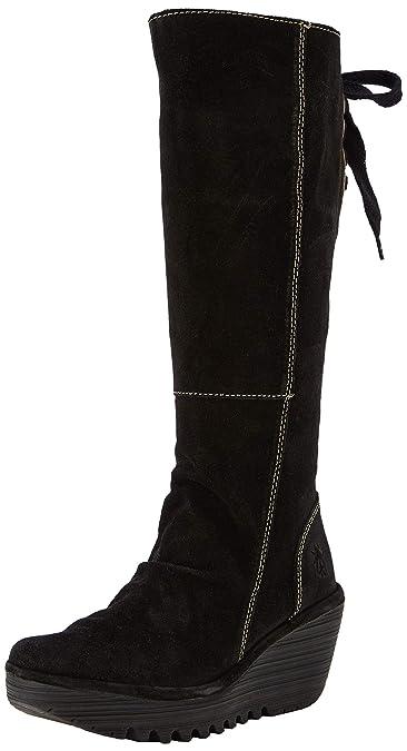 9384e795 Fly London Women's Yust Oil Suede Boots Ankle Boots, Black, 2 UK (EU