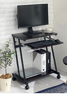 8d5e1cc2172 InnoFur Trapezi PC Desk (Black) with Castor/Computer Table with Castor/ Computer