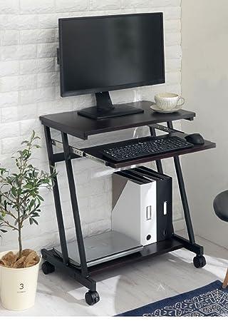 InnoFur Trapezi PC Desk (Black) with Castor/Computer Table with Castor/Computer Desk with Castor