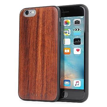 Snugg Funda iPhone 6 y 6S, Carcasa Anti-Impactos para Apple iPhone 6 y 6S [Madera Genuina] Ultrafina Revestimiento de TPU - Granate