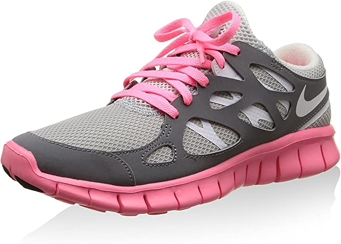 Nike Zapatillas W Free Run +2 Ext Gris/Rosa EU 38 (US 7): Amazon.es: Zapatos y complementos