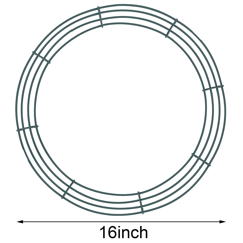 2 Packung Draht Kranz Rahmen Draht Kranz Herstellung Ringe Grün für ...