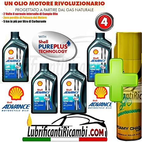 oferta Shell Advance Ultra 4T 10W40 smma L 2-4-nueva fórmula PUREPLUS