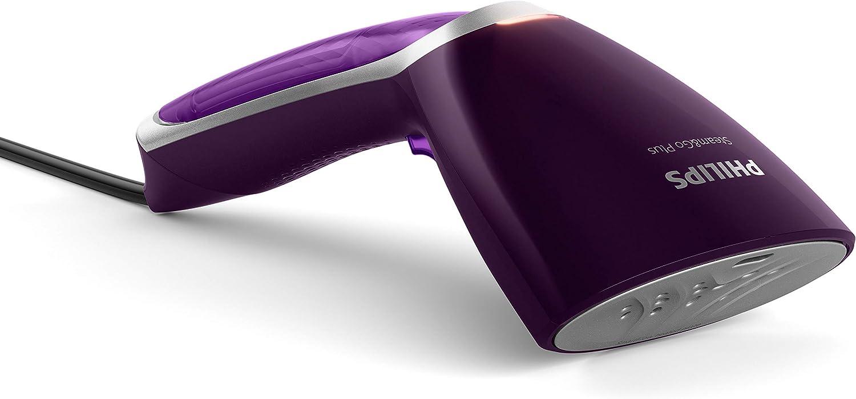 Philips Steam&Go Vaporizador de prendas manual GC363/30 - Vaporizadores para ropa (Vaporizador manual de prendas, 0,07 L, 1 min, Púrpura, 3 m, 24 g/min)