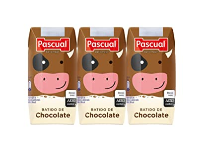 Pascual Batido Chocolate - Paquete de 3 x 20 cl - Total: 600 ml