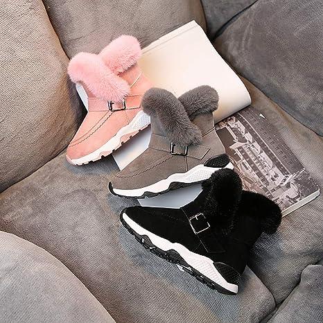 26, Noir Stillshine Mode B/éb/é Toddler Shoes Bottes de Neige Chaudes et /épaisses pour lhiver Bottes en Fourrure pour gar/çon