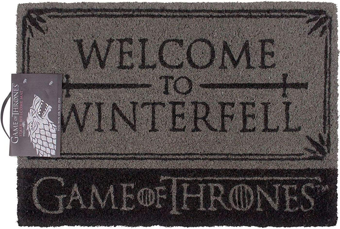 Game of Thrones Stark Targaryen Winterfell Dragon Non Slip Home Door Mat 60cm- x 40cm
