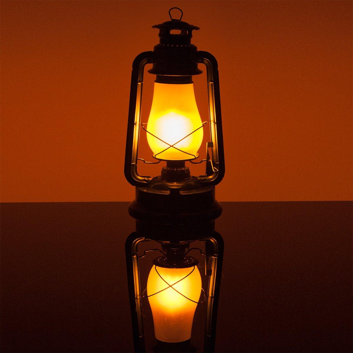 Black Electric 15.5'' Flickering LED Electric Lantern - Christmas Lanterns, Lantern LED Decoration, Vintage Lanterns, Hanging Lanterns by Wintergreen Lighting