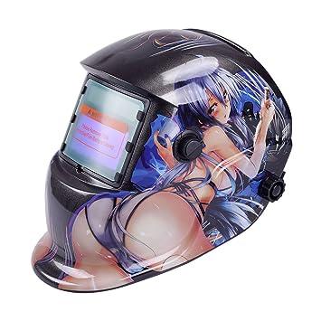 Tiptiper Oscurecimiento del casco de soldadura, oscurecimiento automático de la máscara del casco de soldadura Protección UV Protección IR: Amazon.es: ...