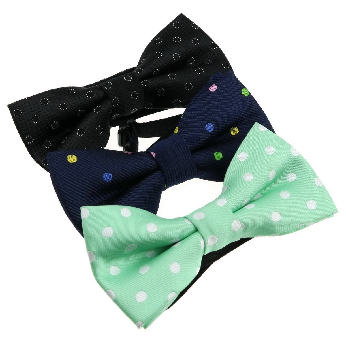 Ukerdo Polka Dot Bowtie Bow Ties Special Design for Unisex Kids Neckwear - 3pcs MixBowtie-056