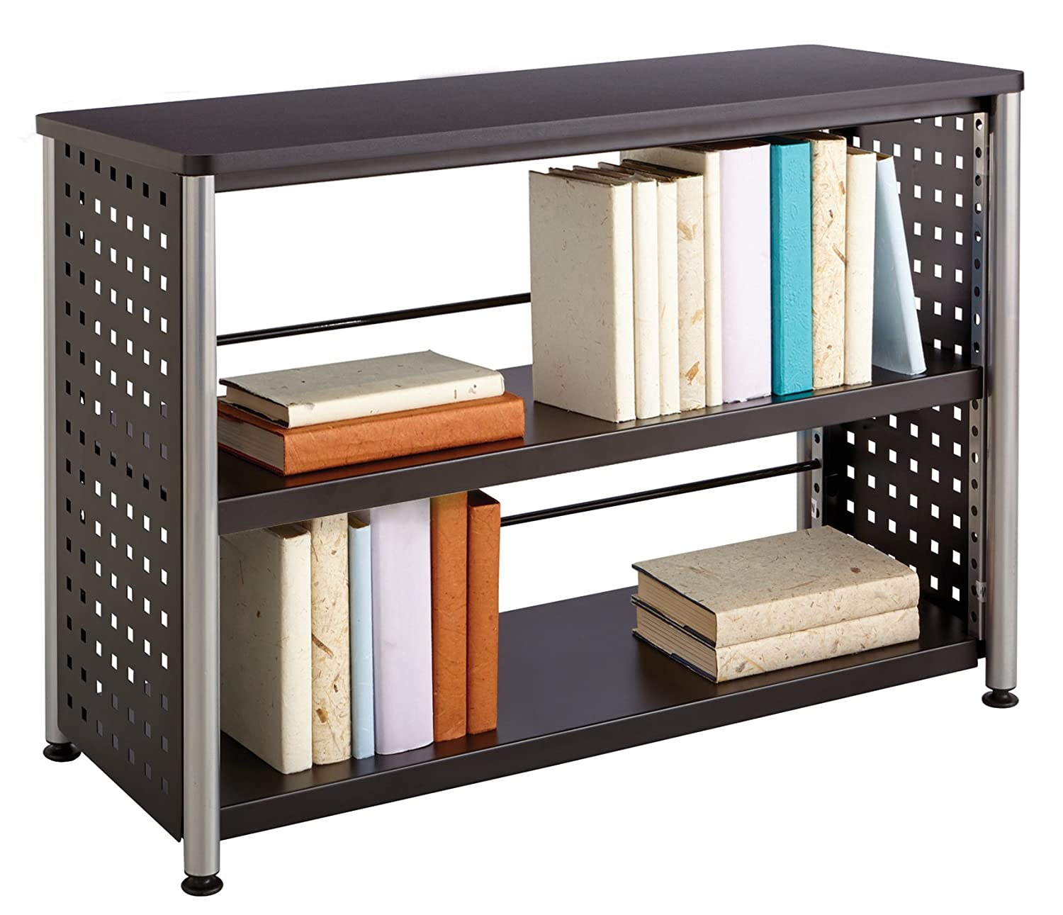 Safco Products 1601BL Scoot Bookcase with 2 Shelves - Black