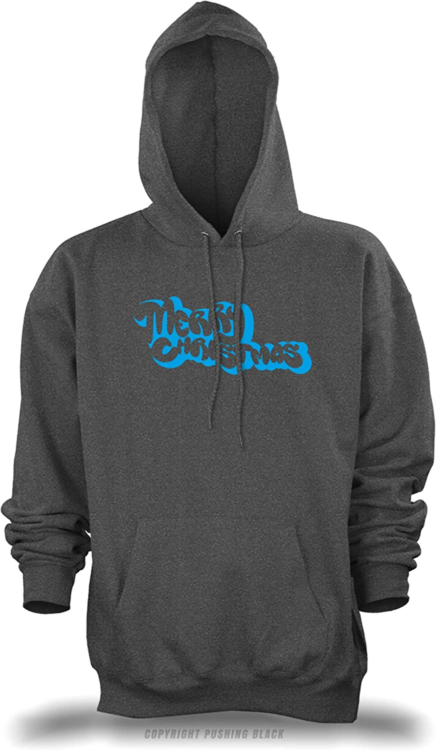 PUSHING BLACK Merry Christmas Bubble Style Unisex Pullover Hoodie